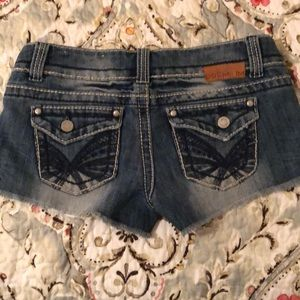 Size 5 Almost Famous Premium distressed shorts